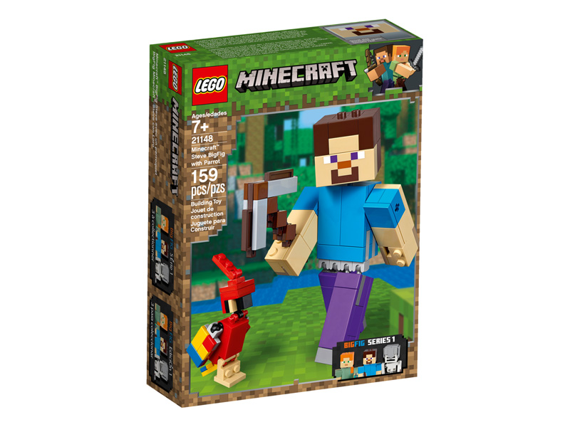 Minecraft 21148 Steve BigFig with Parrot