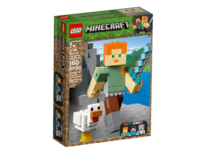 Minecraft 21149 Alex BigFig with Chicken