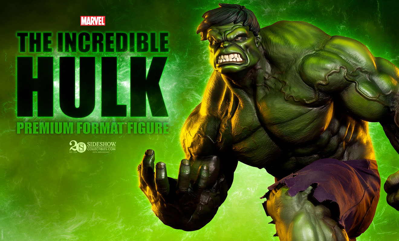 Hulk Green Premium Format Figure by Sideshow Collectibles