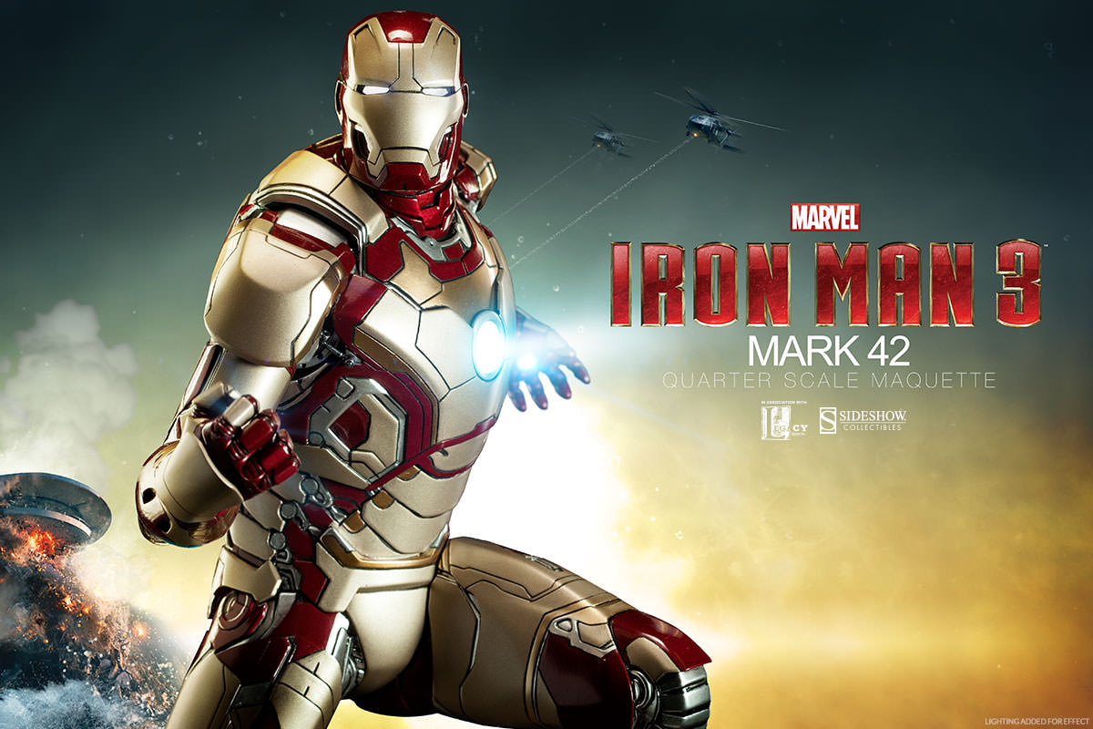 Iron Man Mark 42 Quarter Scale Maquette by Sideshow Collectibles