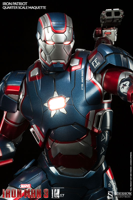 Iron Patriot Quarter Scale Maquette by Sideshow Collectibles