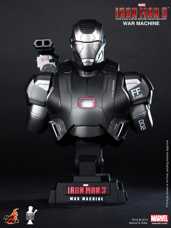 Iron Man 3 Hot Toys Bust War Machine MK II