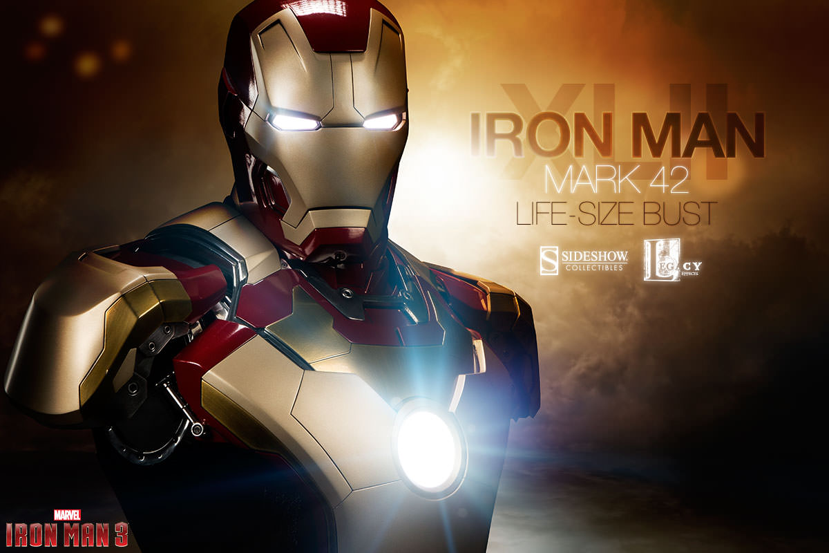 Iron Man Mark 42 Life-Size Bust by Sideshow Collectibles