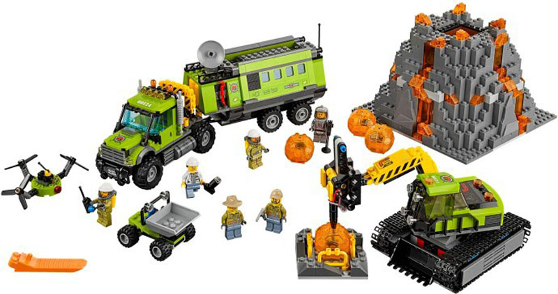 LEGO CITY 60124 Volcano Exploration Base