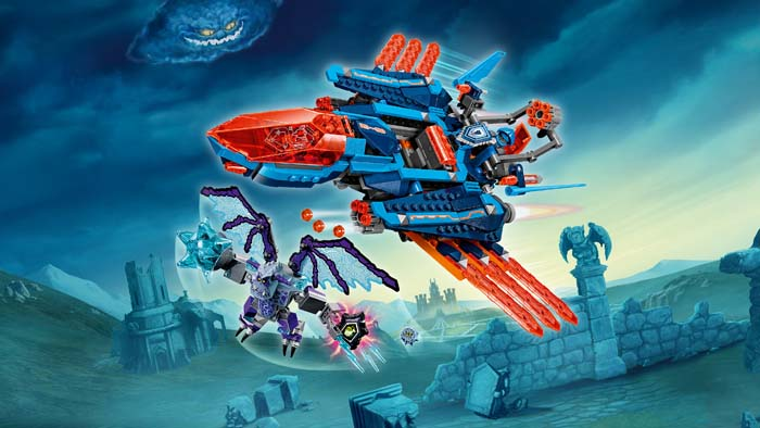 LEGO NEXO Knights 70351 Clays Falcon Fighter Blaster