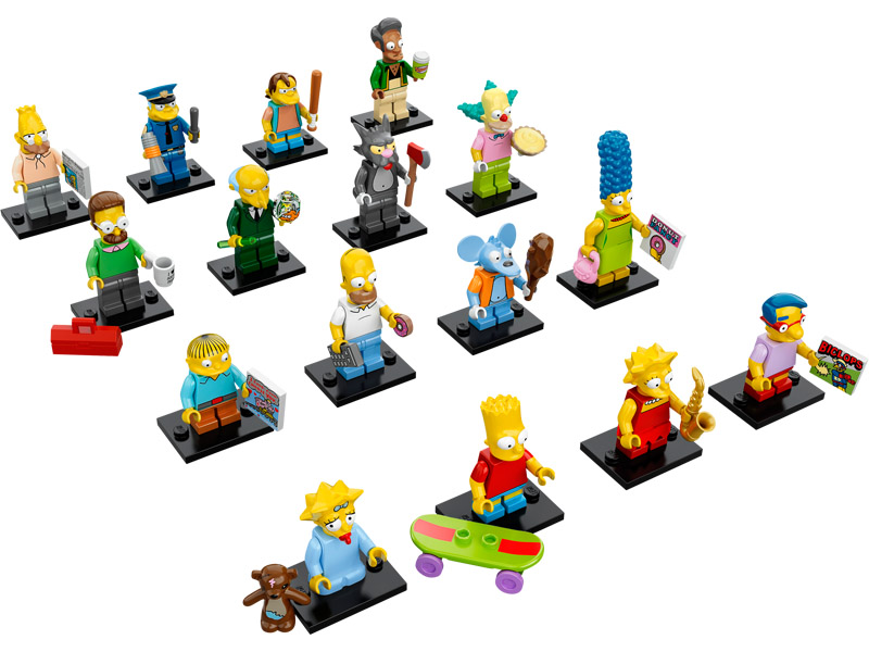 Simpsons Minifigures Pack of 16