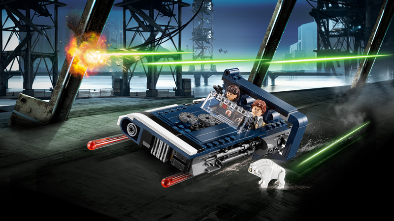 Star Wars 75209 Han Solos Landspeeder - Click Image to Close