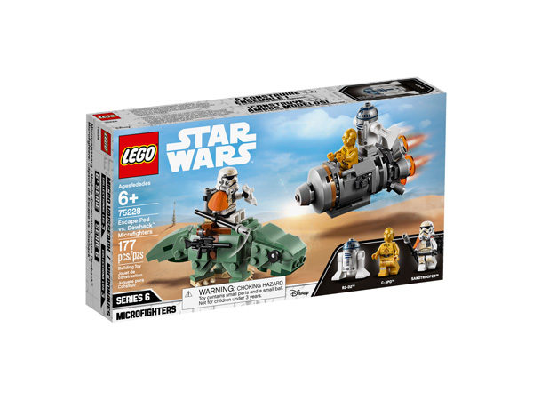Star Wars™ 75228 Escape Pod vs. Dewback Microfighters