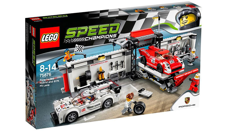 LEGO Speed Champions 75876 Porsche 919 Hybrid and 917K Pit Lane