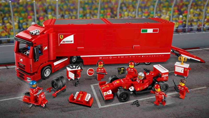 LEGO Speed Champions 75913 F14 T and Scuderai Ferrari Truck