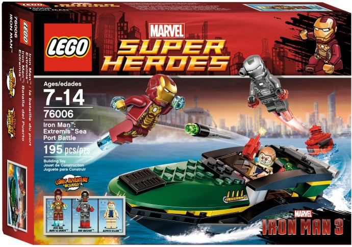 LEGO ® Iron Man Extremis Sea Port Battle 76006