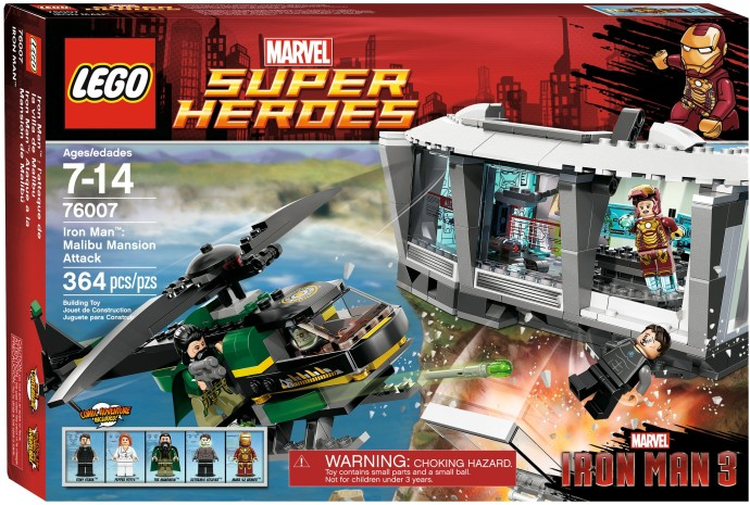 LEGO ® Iron Man Malibu Mansion Attack 76007