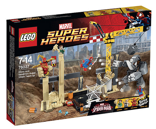 Super Heroes 76037 Rhino and Sandman Super Villain Team up