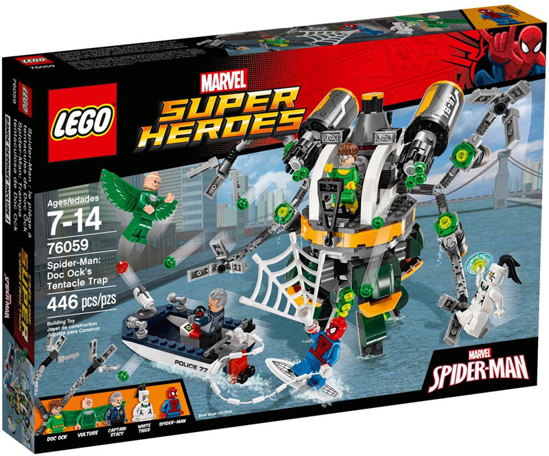 LEGO Super Heroes 76059 SpiderMan Doc Ocks Tentacle Trap