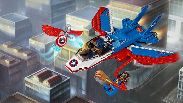 LEGO 76076 Super Heroes Captain America Jet Pursuit