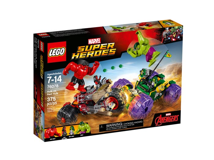 LEGO 76078 Super Heroes Hulk vs Red Hulk