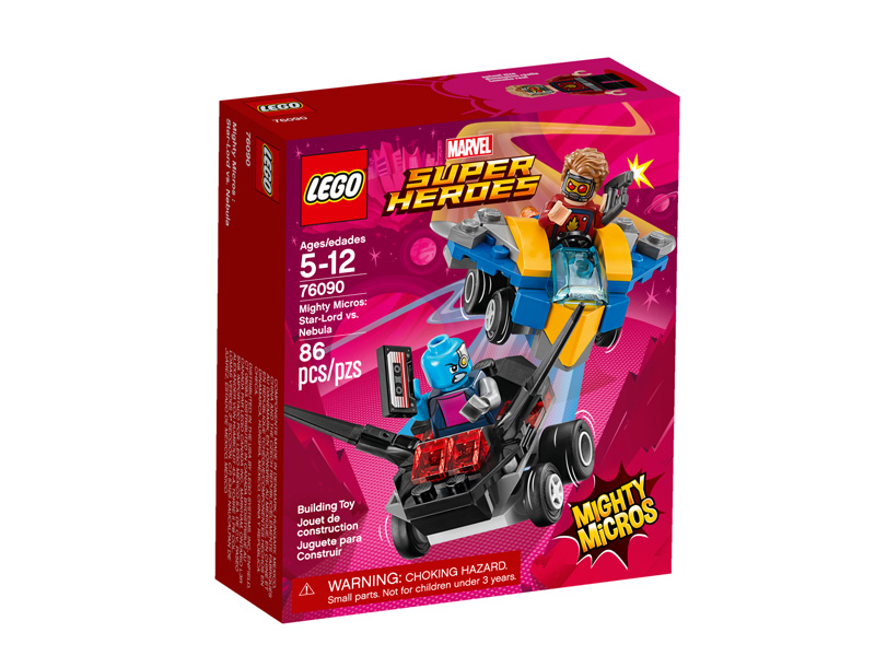 Super Heroes 76090 Mighty Micros Star Lord vs Nebula