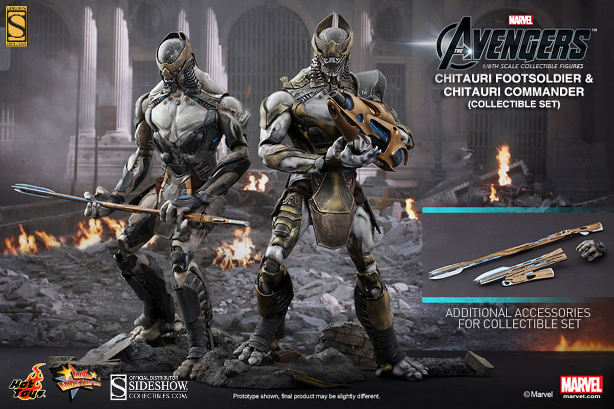 The Avengers Chitauri Footsoldier and Chitauri Commander
