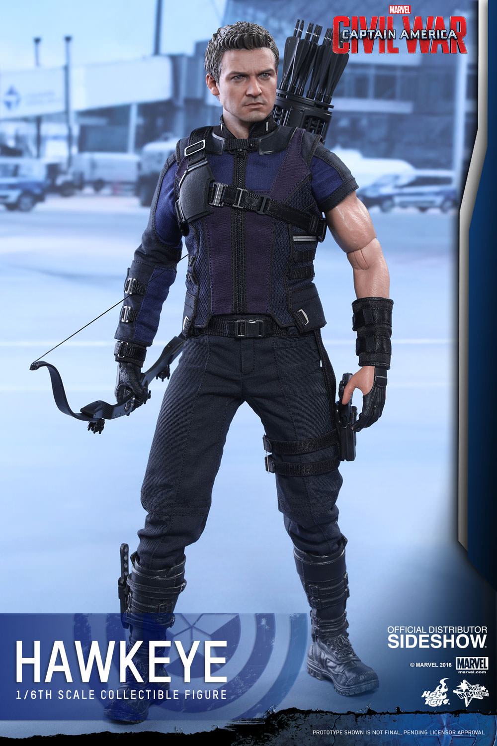 Captain America Civil War Hawkeye Sixth Scale Figure by Hot Toys