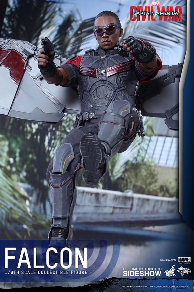 Captain America Civil War Falcon Sixth Scale Figure by Hot Toys