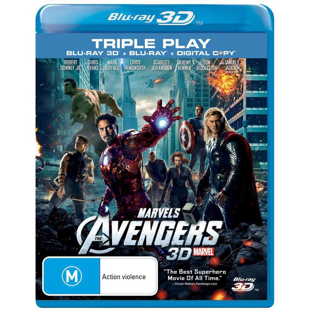 The avengers 2012 marvel blu ray 3d