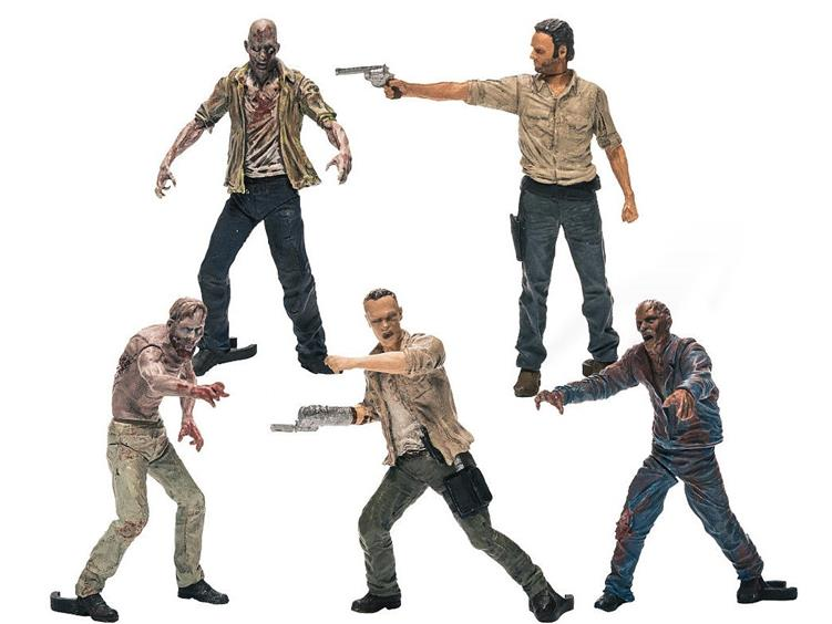 The Walking Dead Construction Figure Pack 1 Character Five Pack