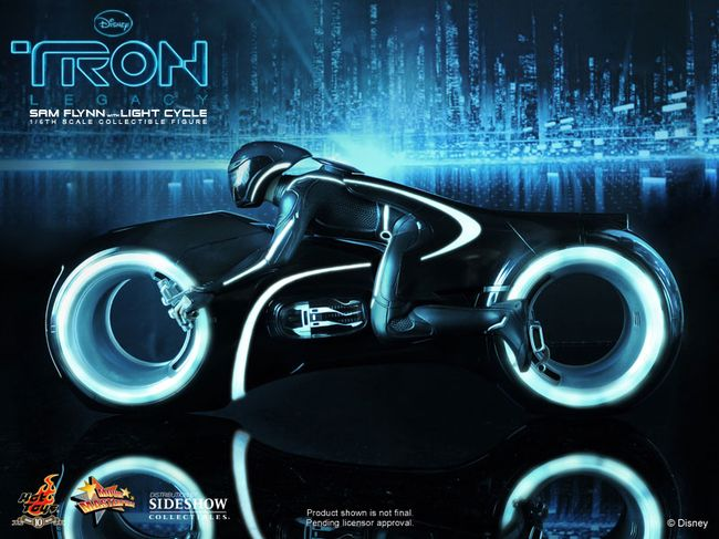 Sam Flynn with Light Cycle Tron Hot Toys
