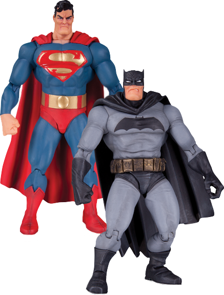 Batman The Dark Knight Returns Superman and Batman Action Figure