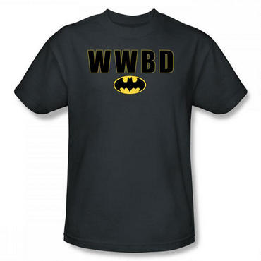 Batman What Would Batman Do? Adult Charcoal Gray T-Shirt - Large