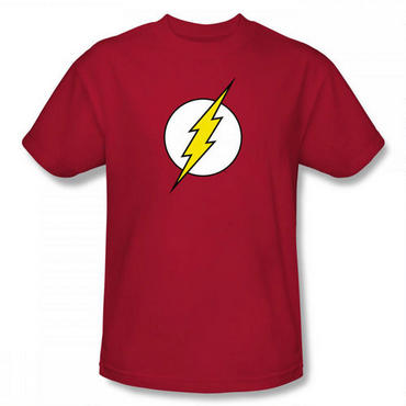 Flash Classic Logo Adult Red T-Shirt - Large