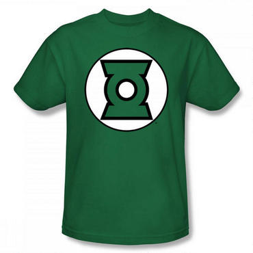 Green Lantern Logo Classic Adult Kelly Green T-Shirt - Large