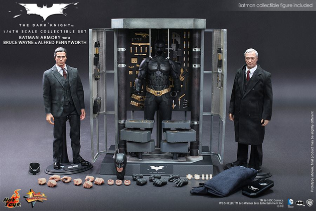 Batman Armory with Bruce Wayne and Alfred Set Hot Toys