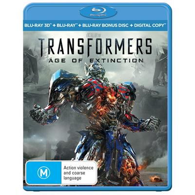 Transformers: Age Of Extinction 3D Blu Ray / Blu Ray / DC