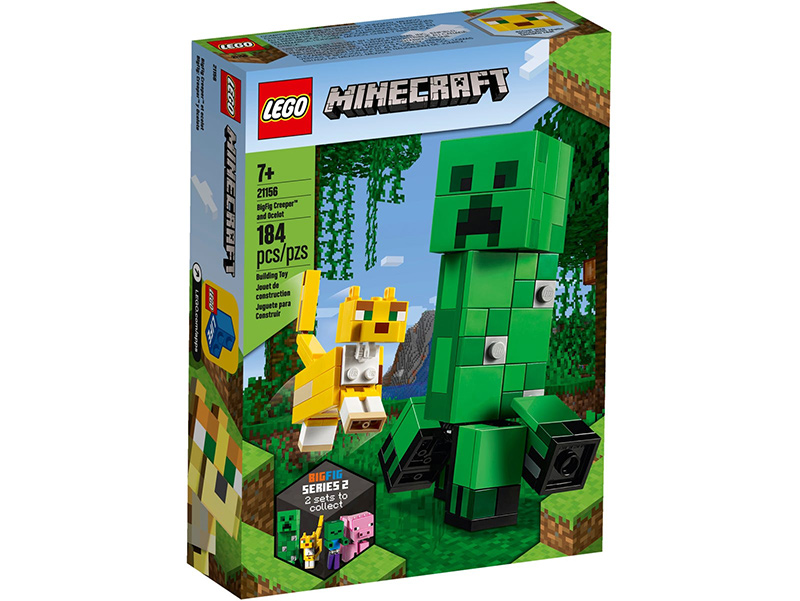 Minecraft 21156 BigFig Creeper and Ocelot