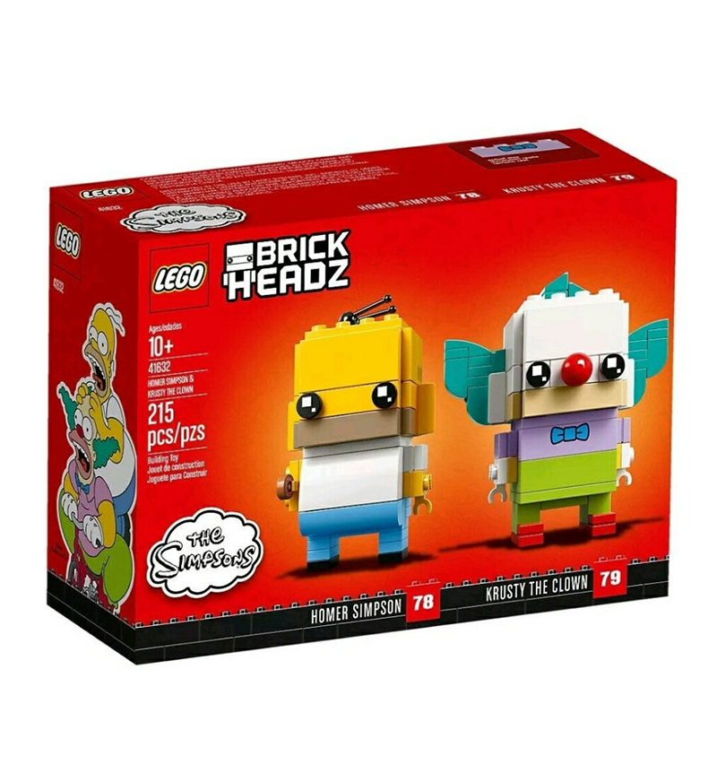 BrickHeadz 41632 Homer Simpson and Krusty the Clown