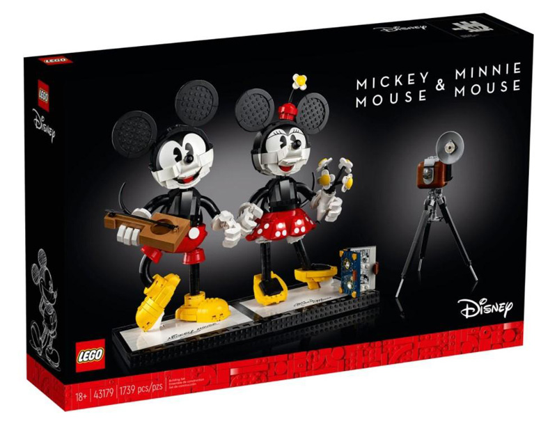 LEGO® 43179 Mickey Mouse & Minnie Mouse Buildable Characters
