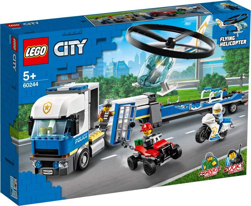 LEGO® CITY 60244 Police Helicopter Transport
