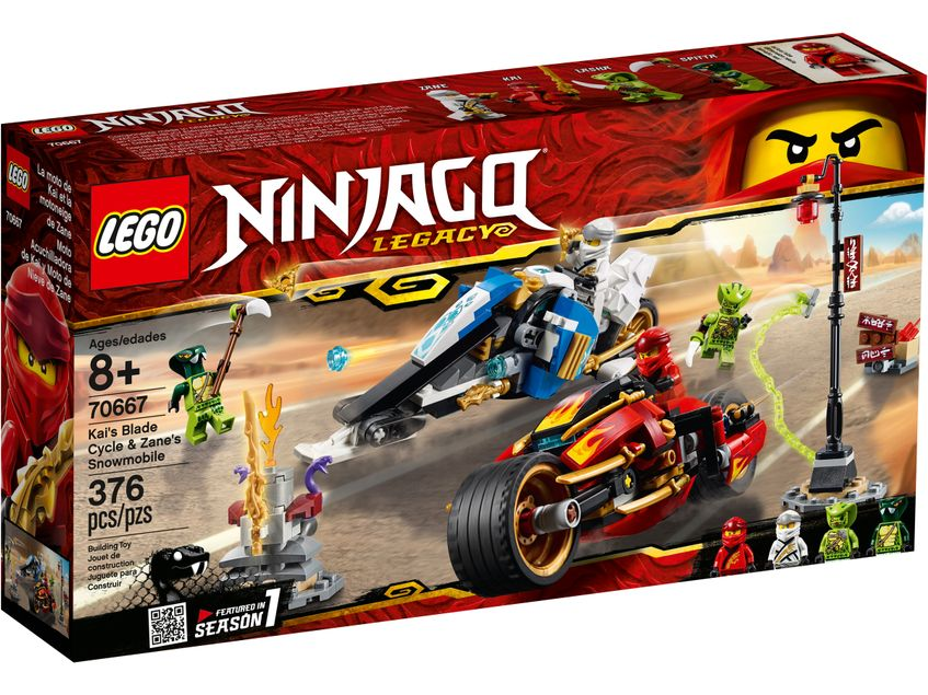 NINJAGO 70667 Kai's Blade cycle & Zane's Snowmobile