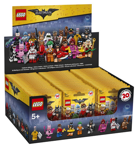 LEGO Minifigures 71017 THE LEGO BATMAN MOVIE BOX of 60