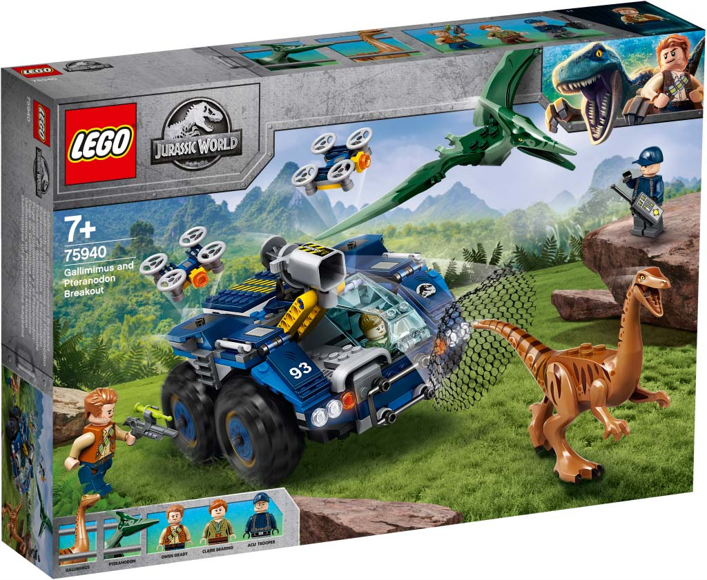 Jurassic World 75940 Gallimimus and Pteranodon Breakout