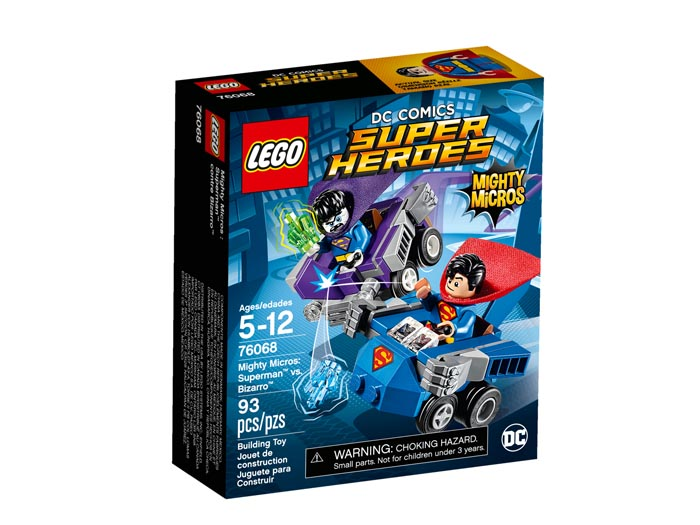 76068 Super Heroes Mighty Micros Superman vs Bizarro