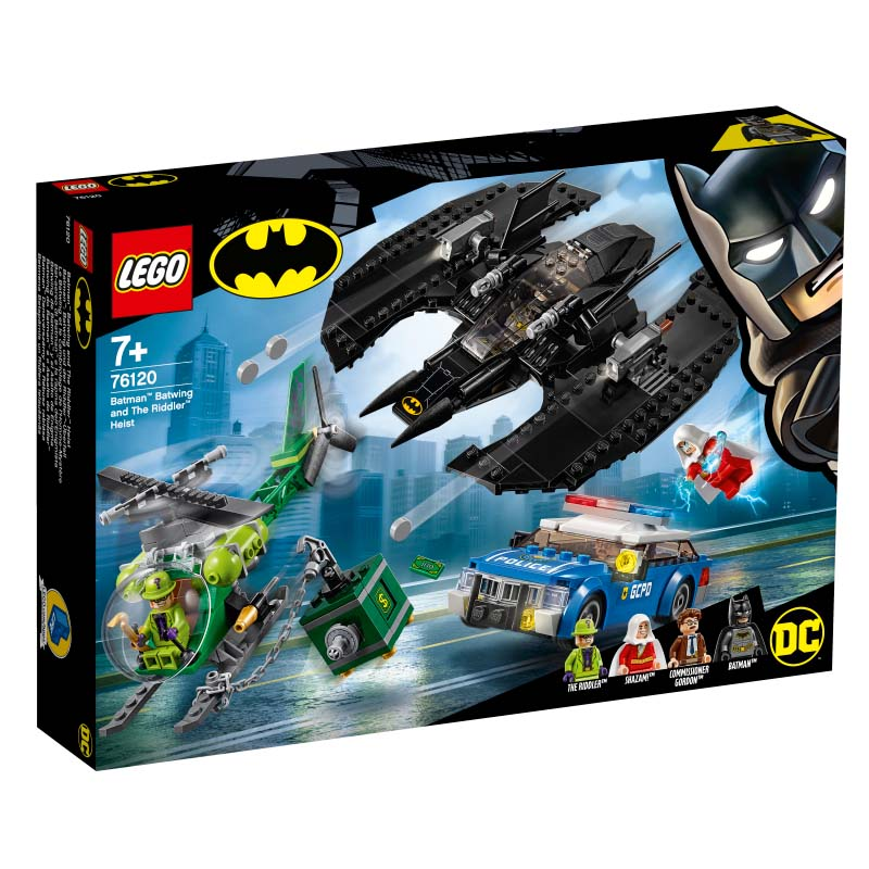 Super Heroes 76120 Batman Batwing and The Riddler Heist