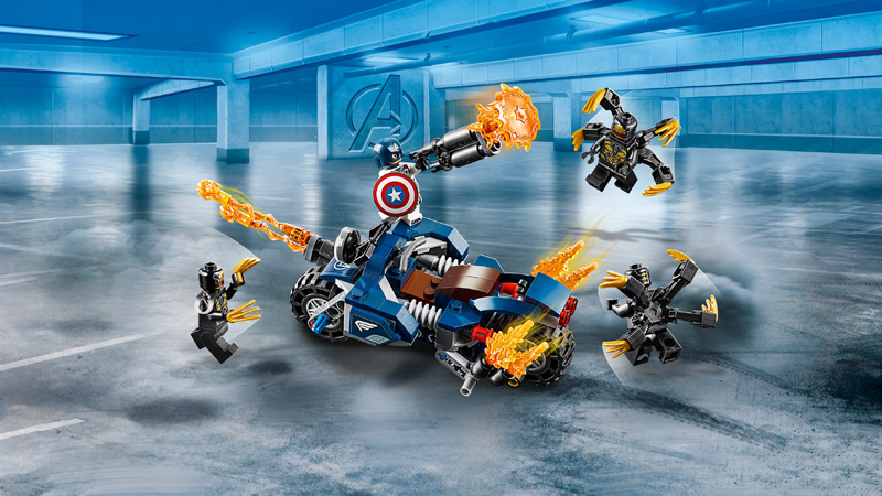 LEGO® 76123 Captain America Outriders Attack