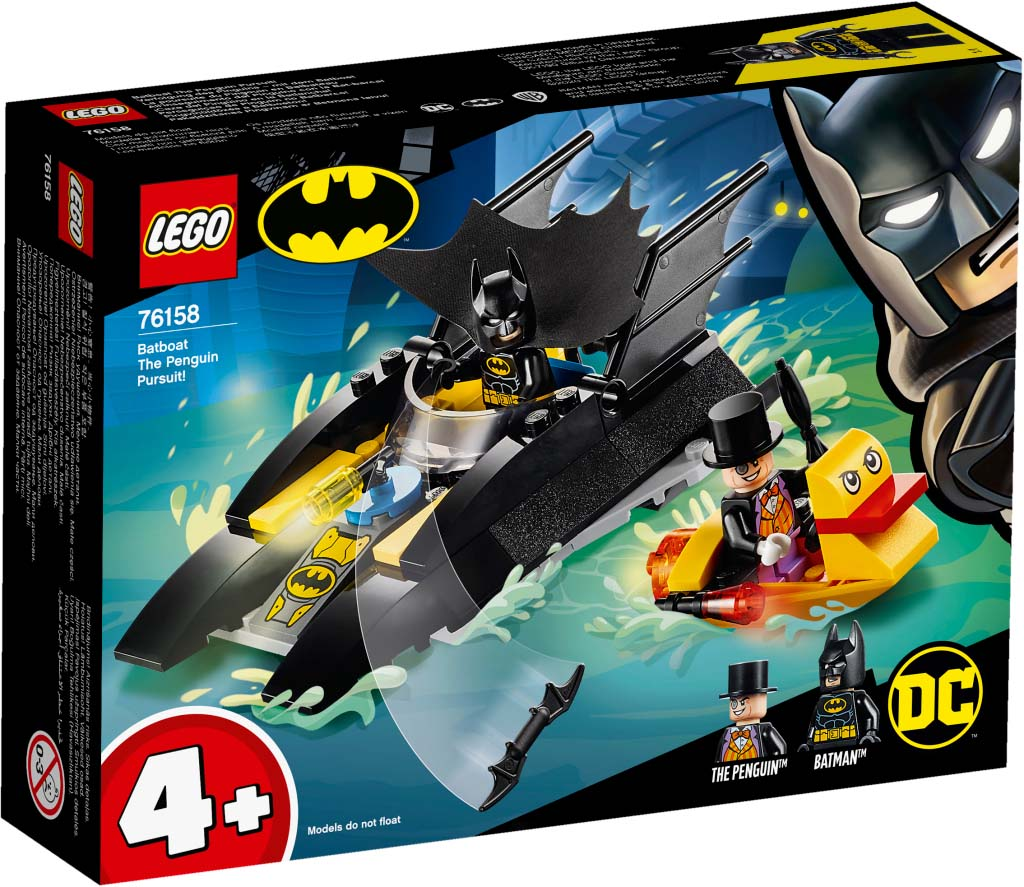 Super Heroes 76158 Batboat The Penguin Pursuit