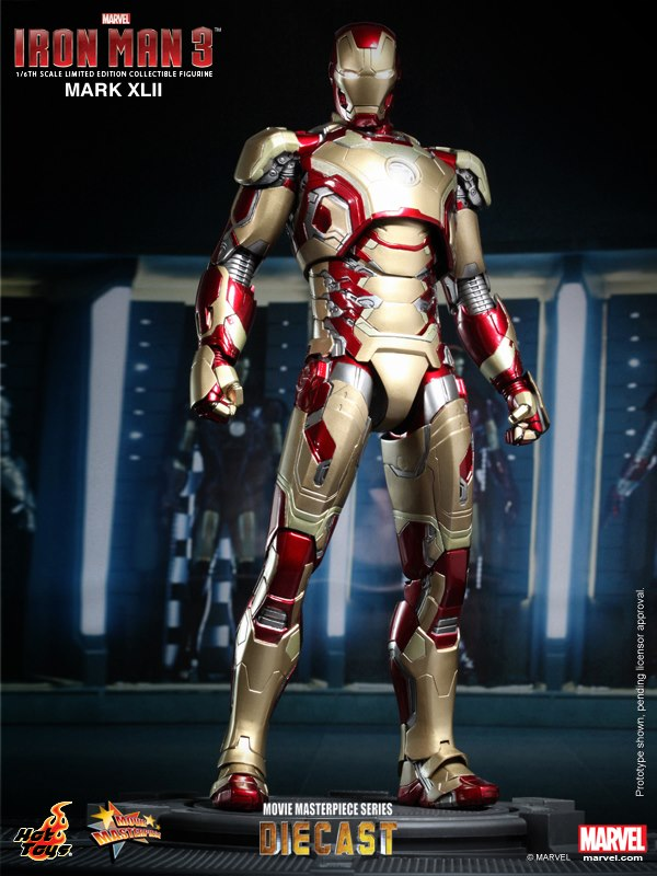 Iron Man 3 Iron Man Mark XLII 42 Hot Toys MMS197