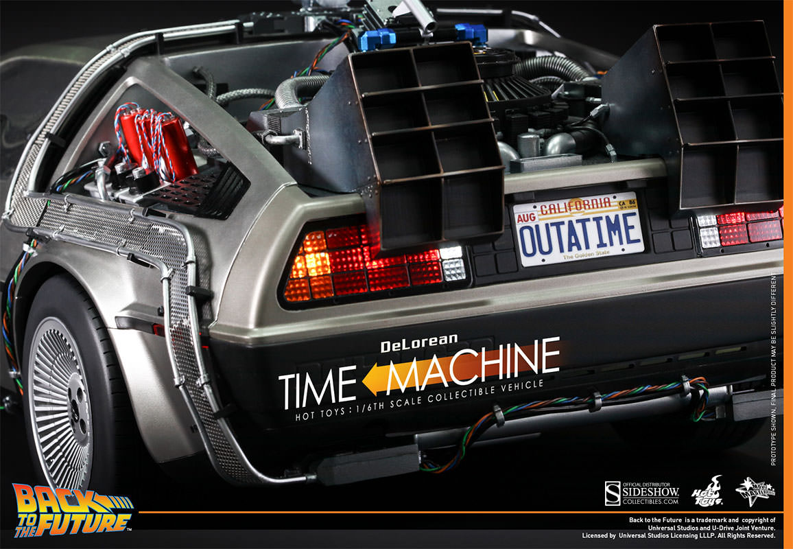 DeLorean Sixth Scale Figure Back to the Future Hot Toys MMS260